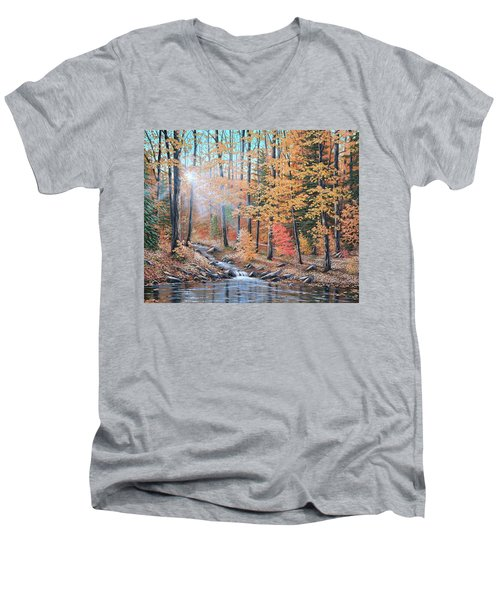 Woodland Trail Men's V-Neck T-Shirt