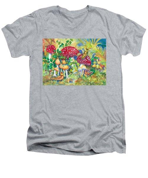 Woodland Visitors Men's V-Neck T-Shirt