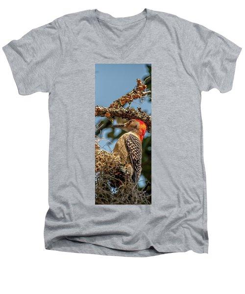 Woodpecker Closeup Men's V-Neck T-Shirt