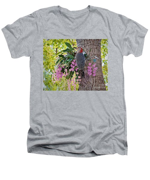 Woodpecker Heaven Men's V-Neck T-Shirt