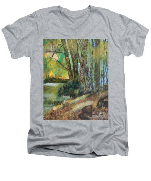 Woods In The Afternoon Men's V-Neck T-Shirt