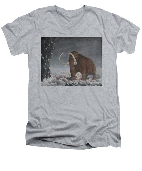 Wooly Mammoth......10,000 Years Ago Men's V-Neck T-Shirt
