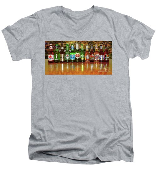Men's V-Neck T-Shirt featuring the photograph World Beers By Kaye Menner by Kaye Menner