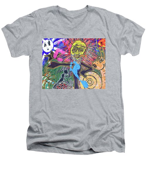World Buggin Aftermath Men's V-Neck T-Shirt