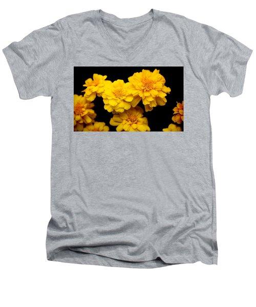 World In Yellow Men's V-Neck T-Shirt