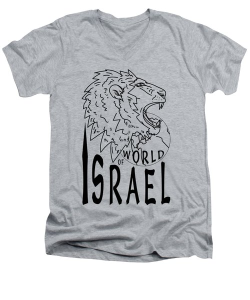 World Of Israel Men's V-Neck T-Shirt