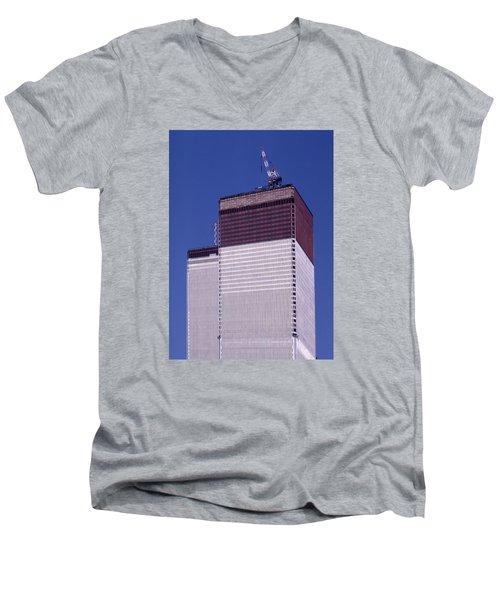 World Trade Center Under Construction Men's V-Neck T-Shirt