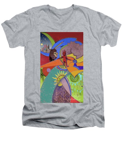 World View Men's V-Neck T-Shirt