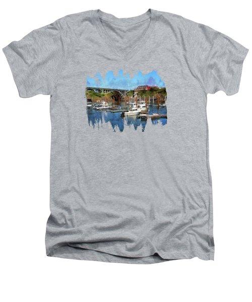 Worlds Smallest Harbor Men's V-Neck T-Shirt