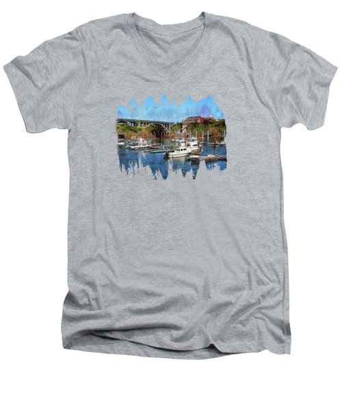 Worlds Smallest Harbor Men's V-Neck T-Shirt