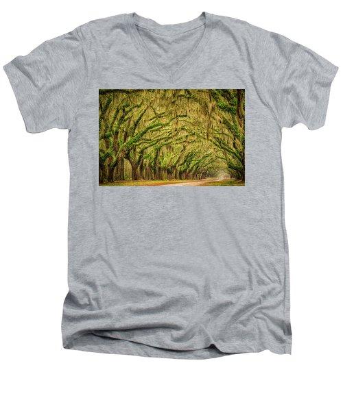 Wormsloe Drive Men's V-Neck T-Shirt