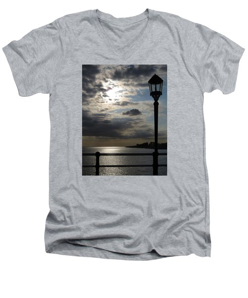 Worthing Seafront From The Pier Men's V-Neck T-Shirt by John Topman