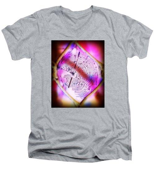 Woven Web Men's V-Neck T-Shirt
