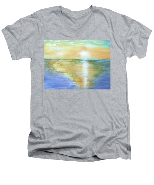 Wow Sunset Men's V-Neck T-Shirt