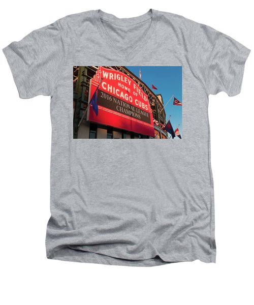 Wrigley Field Marquee Angle Men's V-Neck T-Shirt
