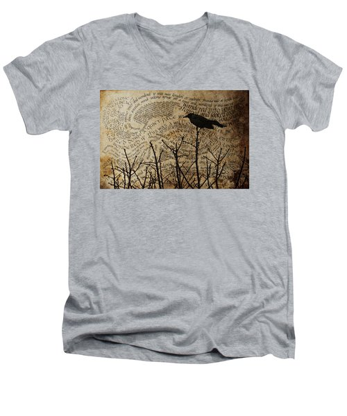 Men's V-Neck T-Shirt featuring the photograph Written On The Wind by Jan Amiss Photography