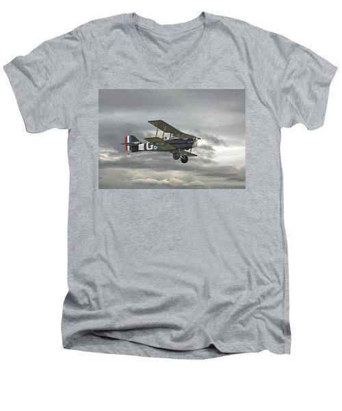 Men's V-Neck T-Shirt featuring the digital art Ww1 - Icon Se5 by Pat Speirs