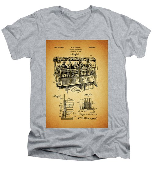 Ww2 Military Transport Vehicle Men's V-Neck T-Shirt by Dan Sproul