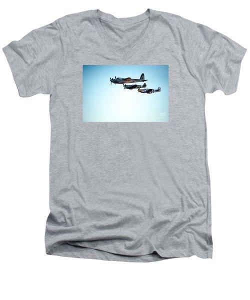 Wwii Planes Men's V-Neck T-Shirt
