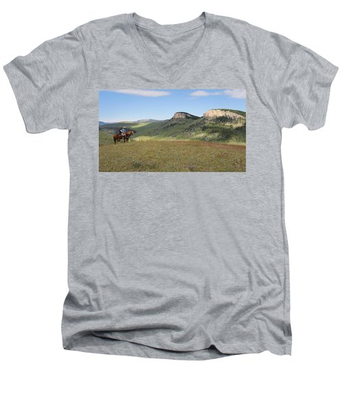 Wyoming Bluffs Men's V-Neck T-Shirt