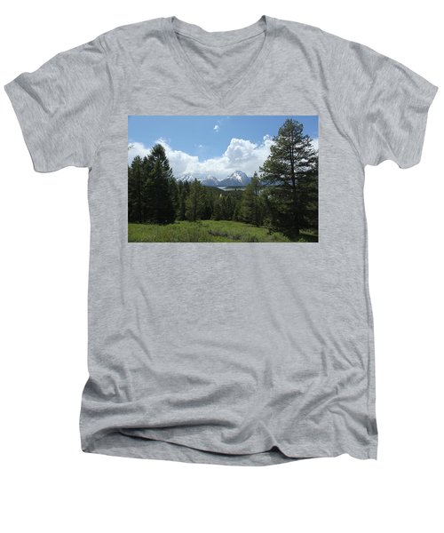 Wyoming 6500 Men's V-Neck T-Shirt by Michael Fryd