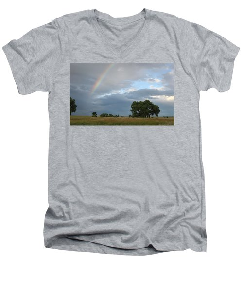 Wyoming Rainbow Men's V-Neck T-Shirt