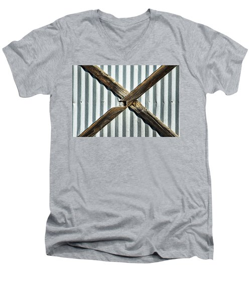 Men's V-Neck T-Shirt featuring the photograph X Marks The Spot by Karol Livote