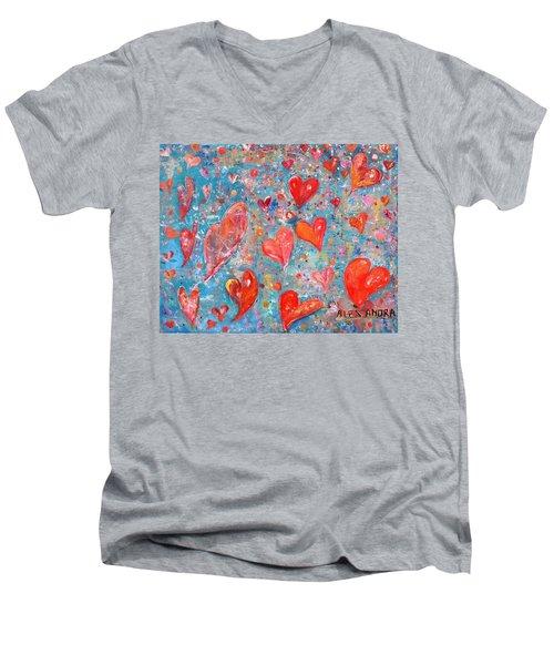 Xoxo Men's V-Neck T-Shirt