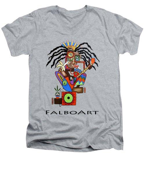 Ya Man 2 No Steel Drums Men's V-Neck T-Shirt