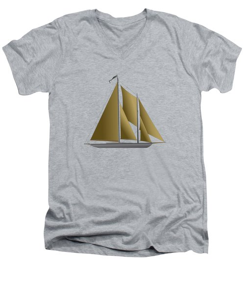 Yacht In Sunlight Men's V-Neck T-Shirt