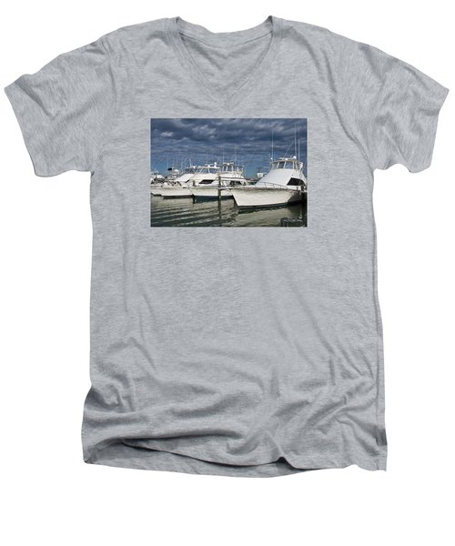 Yachts At The Dock Men's V-Neck T-Shirt