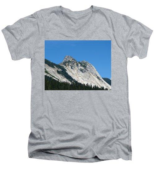 Yak Peak Men's V-Neck T-Shirt by Will Borden