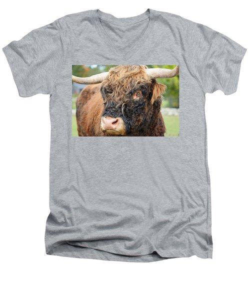 Yakity Yak Men's V-Neck T-Shirt by Karol Livote