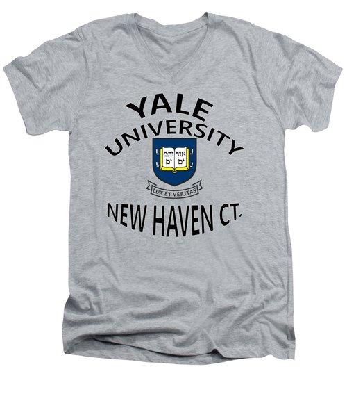 Yale University New Haven Connecticut  Men's V-Neck T-Shirt