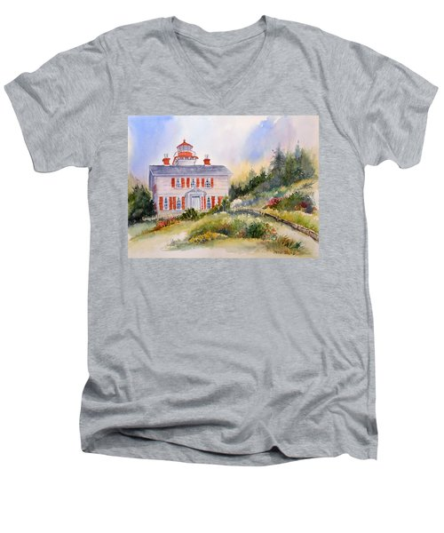 Yaquina Bay Light Men's V-Neck T-Shirt