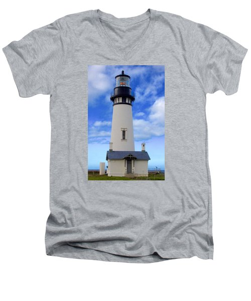 Yaquina Head Lighthouse Men's V-Neck T-Shirt