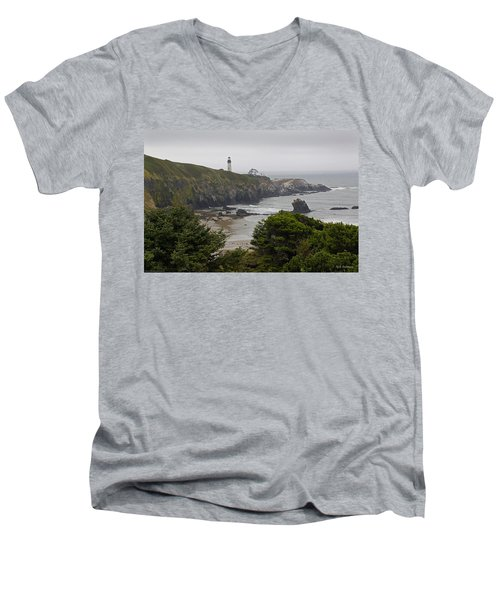 Yaquina Head Lighthouse View Men's V-Neck T-Shirt