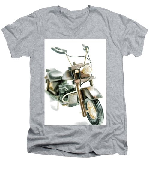 Yard Sale Wooden Toy Motorcycle Men's V-Neck T-Shirt by Wilma Birdwell