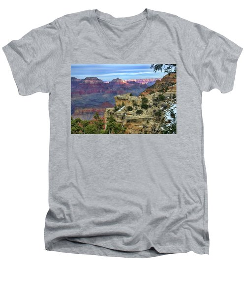 Yavapai Point Sunset Men's V-Neck T-Shirt by Diana Mary Sharpton