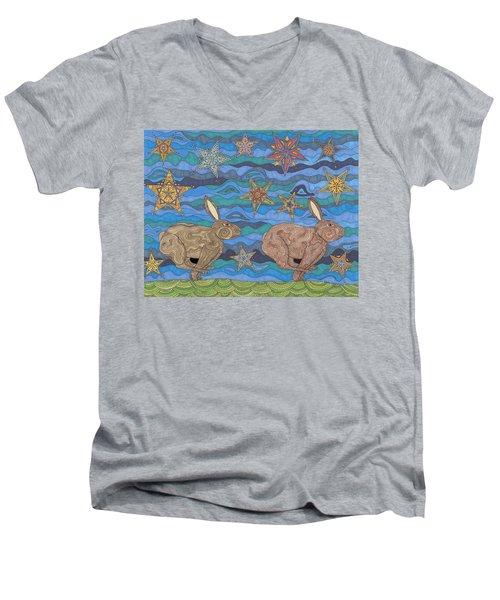 Year Of The Rabbit Men's V-Neck T-Shirt