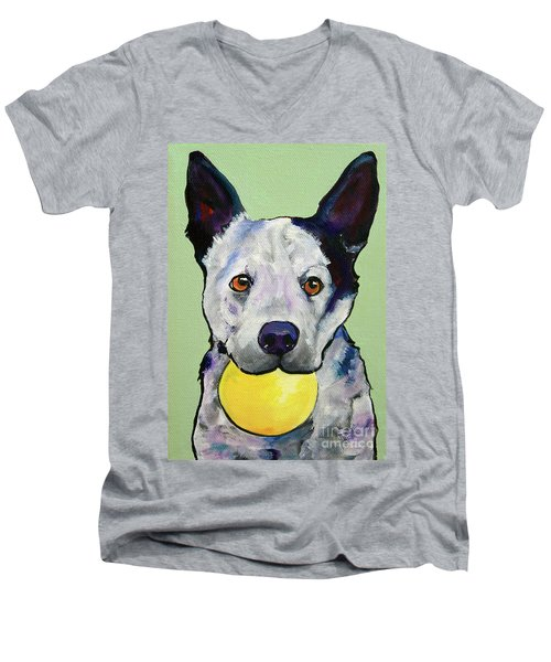Yellow Ball Men's V-Neck T-Shirt