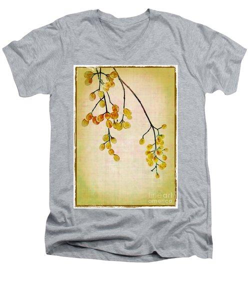 Yellow Berries Men's V-Neck T-Shirt