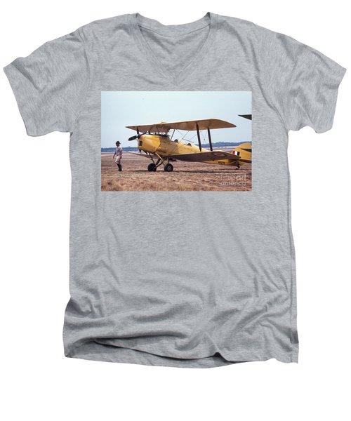 Yellow Bipe Men's V-Neck T-Shirt