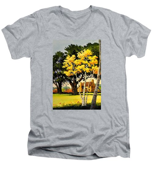 Yellow Birches Men's V-Neck T-Shirt