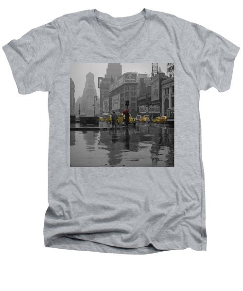 Yellow Cabs New York Men's V-Neck T-Shirt