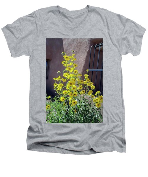 Yellow Composites At Ghost Ranch  Men's V-Neck T-Shirt