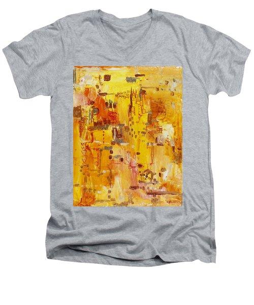 Yellow Conundrum Men's V-Neck T-Shirt