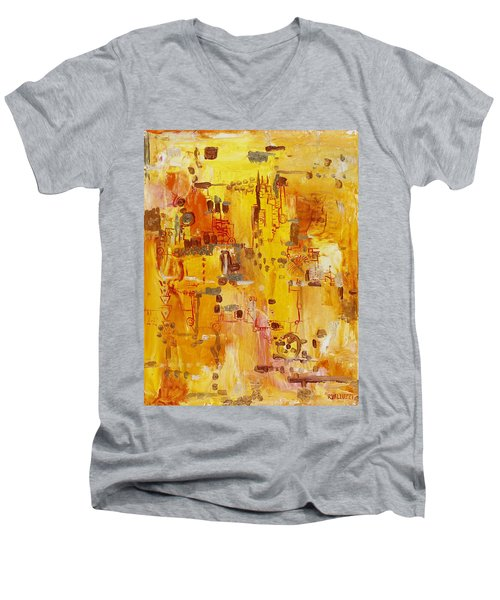 Yellow Conundrum Men's V-Neck T-Shirt