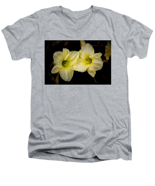 Yellow Day Lilies Men's V-Neck T-Shirt