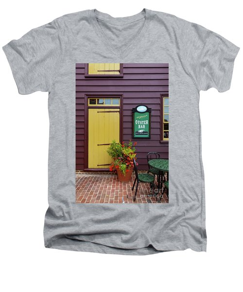Yellow Door In Annapolis Men's V-Neck T-Shirt